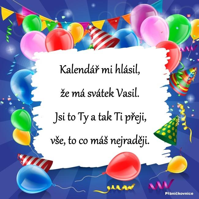 Vasil (2.1.) – přání k svátku