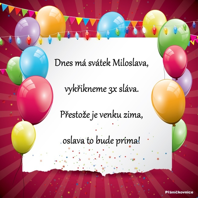 Miloslava (17.2.) – přání k svátku