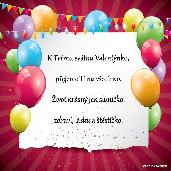 Valentýna (14.2.) – přání k svátku