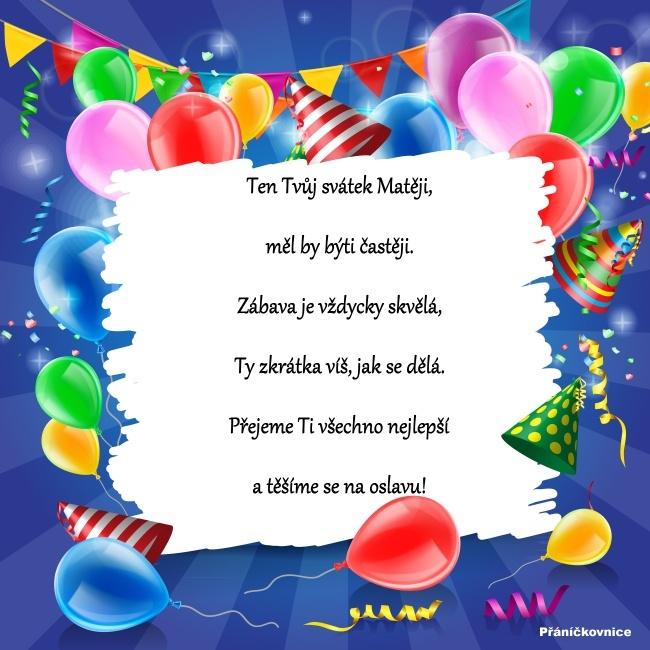 Matěj (24.2.) – přání k svátku #1