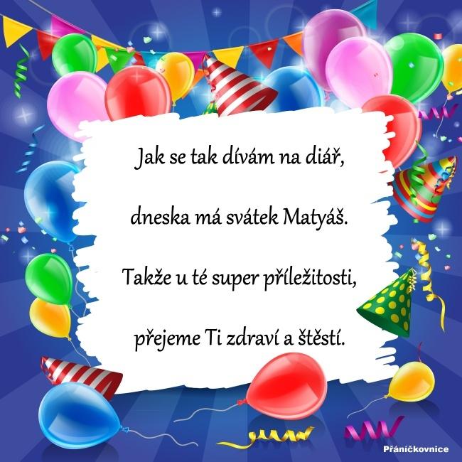 Matyáš (24.2.) – přání k svátku #1