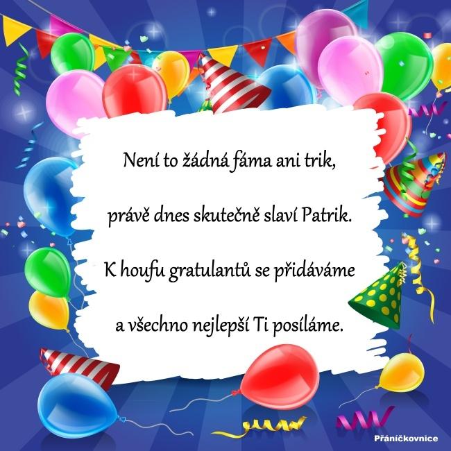 Patrik (19.2.) – přání k svátku #1