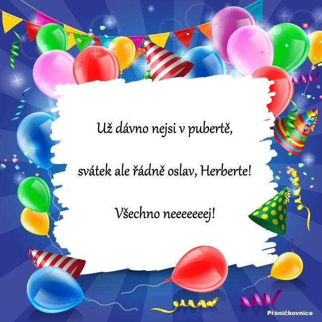 Herbert (16.3.) – přání k svátku