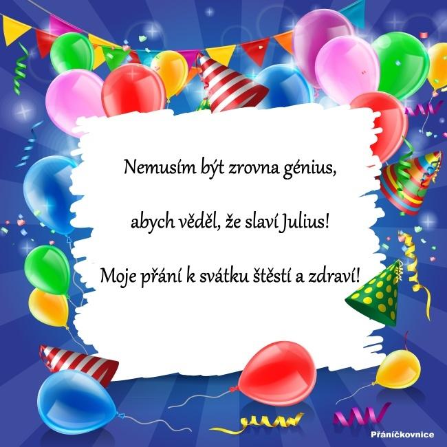 Julius (12.4.) – přání k svátku