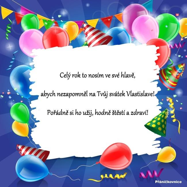 Vlastislav (28.4.) – přání k svátku