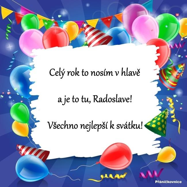 Radoslav (6.5.) – přání k svátku