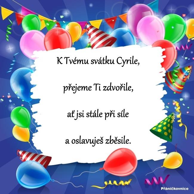 Cyril (5.7.) – přání k svátku