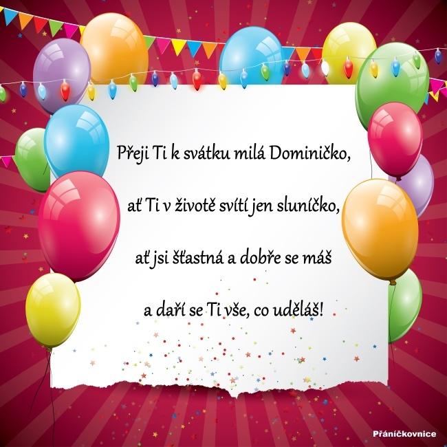 Dominika (4.8.) – přání k svátku