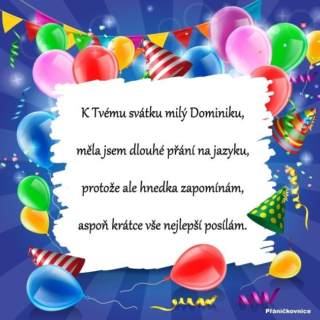 Dominik (4.8.) – přání k svátku