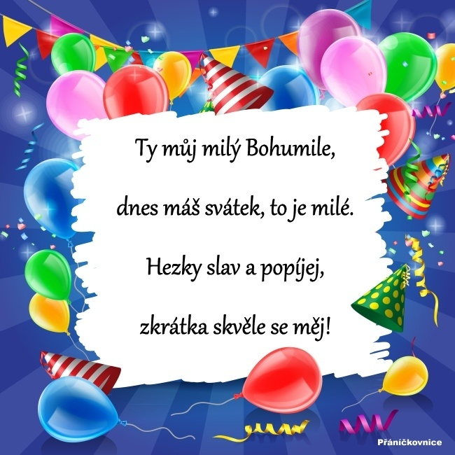 Bohumil (3.10.) – přání k svátku