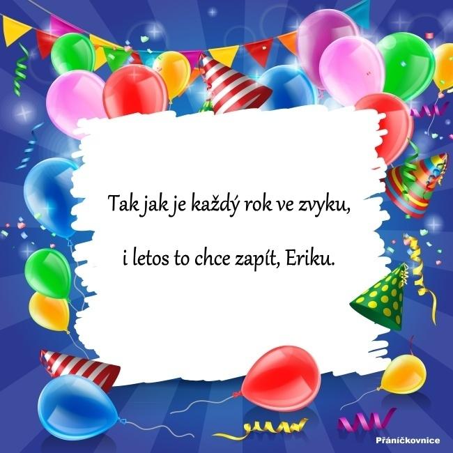Erik (26.10.) – přání k svátku
